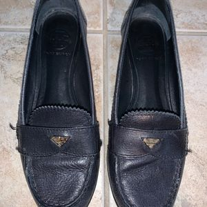 Navy Blue Tory Burch Loafers Size 7.5